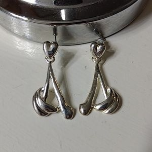 Cute silver earrings